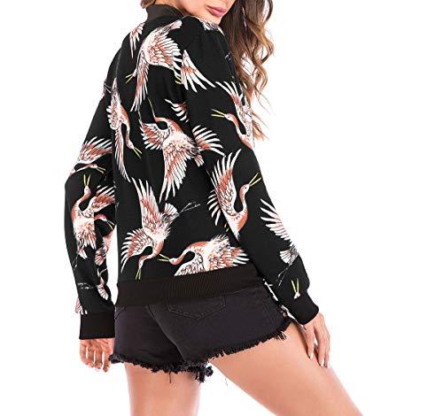 Manches Casual Fashion Blousons Fox Coat Top Bomber Court Hauts Fr Baseball Vestes Outerwear Longues Jacket Printemps Imprim Femmes Automne ulein Manteau OSwO50q8