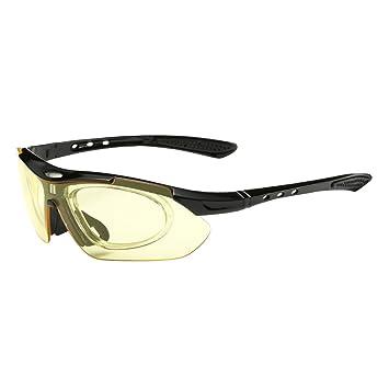 FREE SOLDIER 5 in 1 Taktische Polarisierte Fischen Männer Sonnenbrillen Outdoor Kugelsichere Myopie Camping Wandern Radfahren Eyewear Sport Brillen (Rot) AHSklN3g