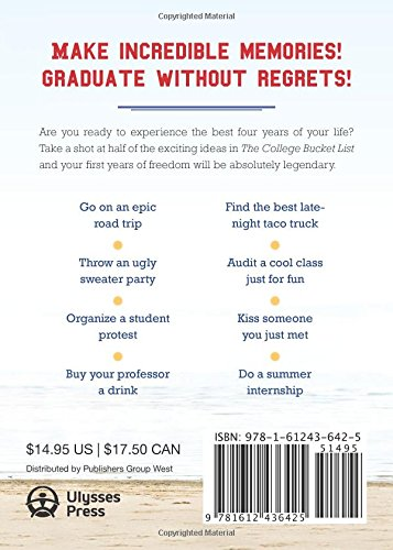 Amazon Com The College Bucket List 101 Fun Unforgettable And