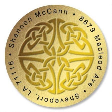 - Personalized Celtic Knot Round St. Patrick's Day Address Labels - Set of 144 Self-Adhesive, Flat-Sheet Irish labels