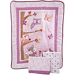 Bedtime Originals Lavender Woods Girl's 3 Piece Bedding Set