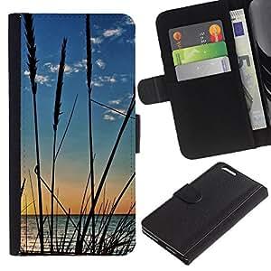 Ihec-Tech / Flip PU Cuero Cover Case para Apple Iphone 6 PLUS 5.5 - Nature Crops Beach