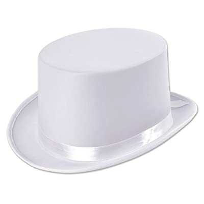 Bristol Novelty BH477 Top Hat White Satin Look, Unisex-Adult, One Size: Toys & Games