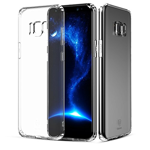 BBEART Samsung Galaxy S8 Plus Case, Baseus Ultra-Thin Simple Transparent Silicone Shockproof Phone Cover Full Protection Clear TPU Case For Samsung Galaxy S8/S8 Plus (For Samsung Galaxy S8 Plus)