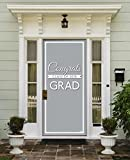 Victory Corps Class Banner Grey - Outdoor GRADUATION Garage Door Banner Mural Sign Décor 36'' x 80'' One Size Fits All Front Door Car Garage -The Original Holiday Front Door Banner Decor