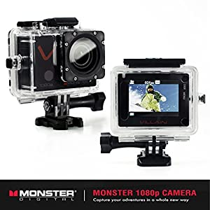 Monster Digital Villain Action Camera - 1080p 30fps HD Video with 32GB micro SD and 16 Accessories [CAMVA-1080p]