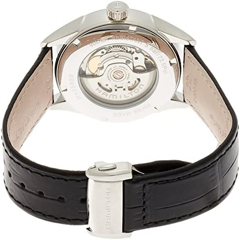 Hamilton Men s H42565751 Automatic Silver Dial Stainless Steel Leather Watch