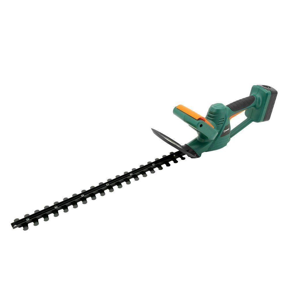 DOEWORKS 20V Li-ion Battery Cordless Electric Hedge Trimmer, 20 Dual Steel Blades, Battery Charger Included