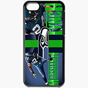 Personalized iPhone 5C Cell phone Case/Cover Skin 14378 marshawn lynch 1 sm Black