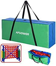 AFUOWER Giant 4 in a Row Connect Game Giant Game Carry and Storage Bag , Jumbo 4-to-Score Carrying Bag Transpo