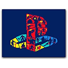Placa Decorativa MDF Ambientes 20 cm x 30 cm - Playstation Sony (BD12)