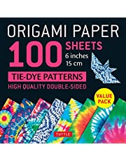"""Origami Paper 100 sheets Tie-Dye Patterns 6"""" (15 cm): Tuttle Origami Paper: High-Quality Double-Sided Origami Sheets Printed with 8 Different Designs (Instructions for 8 Projects Included)"""