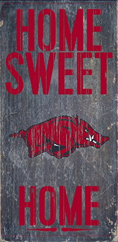 Fan Creations Arkansas Razorbacks Wood Sign - Home Sweet Home - Wood Sign Arkansas