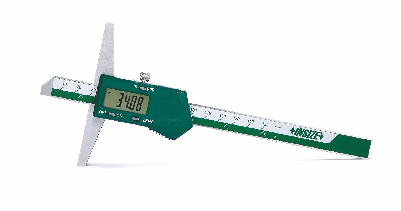 INSIZE 1141-200A Digital Depth Cage, Base Length 100 mm, 0-200 mm/0-8' 0-200 mm/0-8 INSIZE CO. LTD