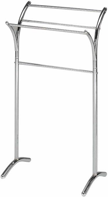 Kings Brand Furniture Chrome Finish Metal Free Standing Towel Rack Stand