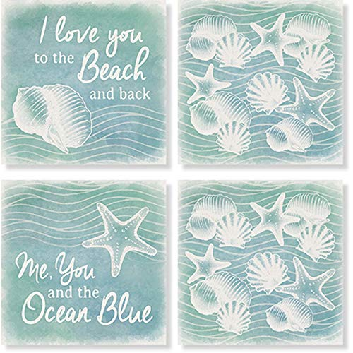 (Carson Beach And Love Square House Coaster Set of 4)