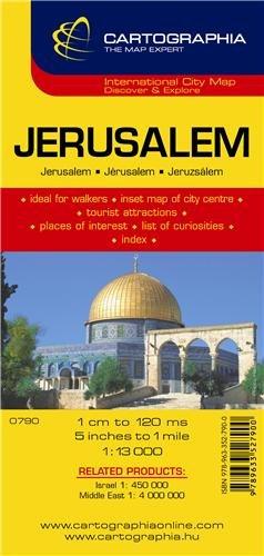 Jerusalem (Cartographia City Map) (Jerusalem Old City Map)