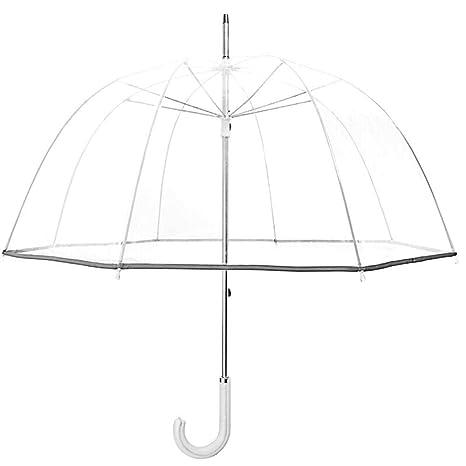 Paraguas clásicos Campo de visión Transparente Paraguas para Jaula ...