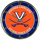 WinCraft NCAA Virginia Cavaliers Chrome Clock
