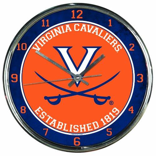 - WinCraft NCAA Virginia Cavaliers Chrome Clock
