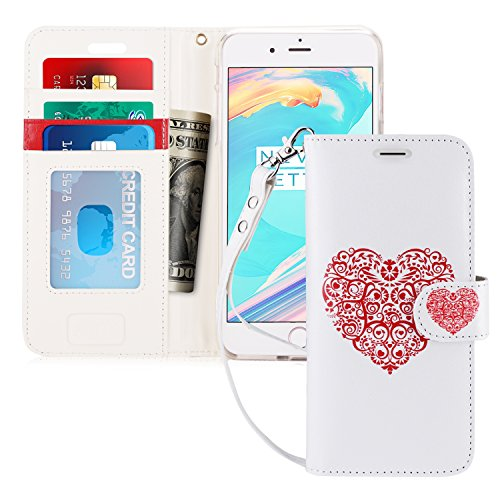 FYY Luxury PU Leather Wallet Case for iPhone 7 Plus/iPhone 8 Plus, [Kickstand Feature] Flip Folio Case Cover with [Card Slots] and [Note Pockets] for Apple iPhone 8/7 Plus (5.5