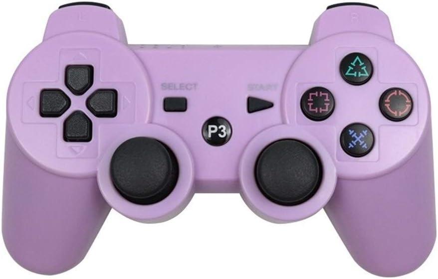 NO LOGO Bluetooth Gamepad inalámbrico for Play Station 3 Joystick de la Consola de SIXAXIS Dualshock 3 Controle for PC for el regulador PS3 Sony (Color : Purple): Amazon.es: Hogar