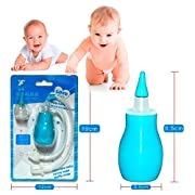 baby nose suction -Baby Nasal Aspirator- Nose Cleaner, Mucus Extractor for Baby Nose Congestion, Cold / Flu- BPA Free, FDA Approved Silicone Baby Mucus Nasal Aspirator