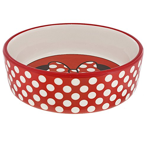 Disney Parks Minnie Mouse Medium Size Ceramic Pet Dish Bowl Dog (Mickey And Minnie Dog Halloween Costumes)