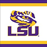 Mayflower Distributing Company 37708 20Count Lsu Lunch Napkin, 6.5x6.5'', Multicolor
