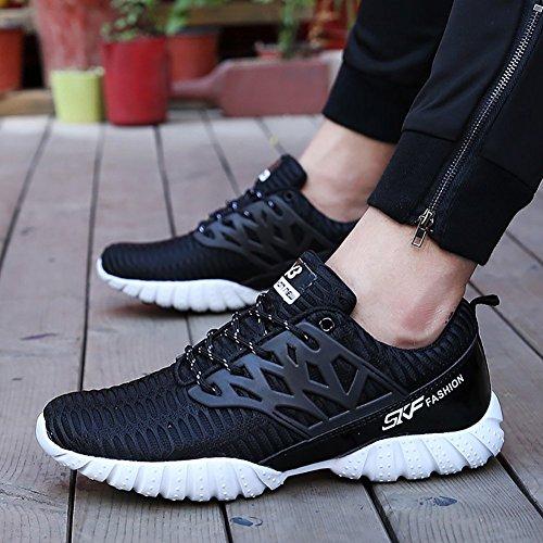Odema Herren Breathable Sneakers Lace-up Laufen Casual Athletic Sneakers Walking Laufschuhe Schwarz