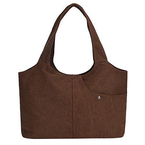 Da gym borsetta Viaggio Bag borsa Di Shopping Weant Donna Blu F Moda Donna borsa borsetta Shopping borsa Bag borsa Rosso Borsetta Nero Grande Donna Semplice Tracolla Tela borsa E0qnzz78wO