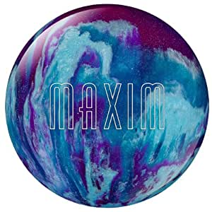 Ebonite Maxim Bowling Ball, Purple/Royal/Silver, 6-Pound