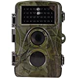 MOCRUX Trail Camera, 16MP 1080P Game&Hunting Camera Motion Activated with Night Vision up to 65ft/20m 0.2s Trigger Speed Waterproof Wildlife Camera with 34pcs IR LEDs 2.4 LCD for Hunting Monitoring