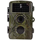 Trail Camera - MOCRUX Game Trail Camera Hunting Camera with LCD Screen, High Trigger Speed Wildlife Camera with IP 56 Waterproof for Hunting Monitoring (H9)