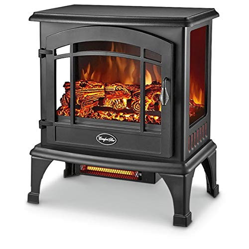 Comfort Glow Electric Stove, Length: 11in, Width: 20in, Height: 23.5in, Black
