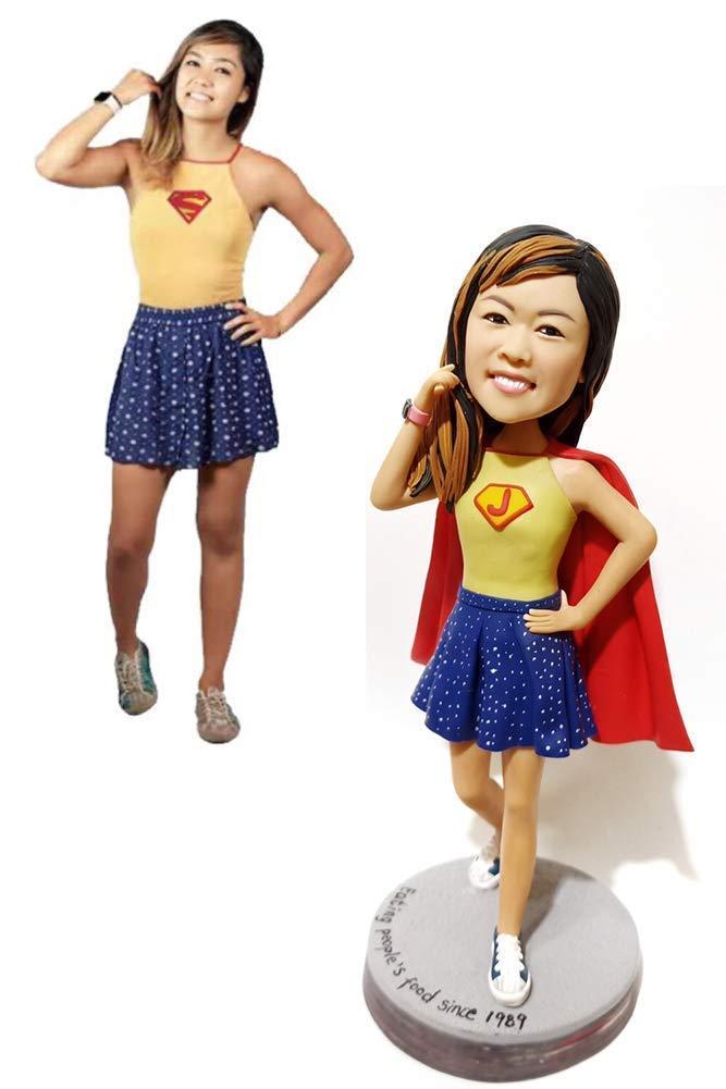 Custom Superhero Bobblehead Figurine Personalized Gifts Personalized