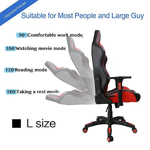 upgrade to large size kinsal gaming chair high