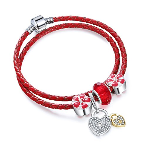 Simple Beads Leather Bracelet Wristband for Women Girls 40
