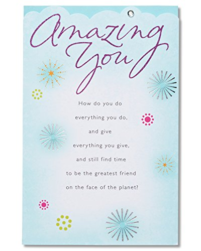 American Greetings Amazing You Birthday Card with Glitter