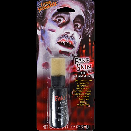 Walking Dead Zombie-FAKE SKIN-Torn Scars Wound FX Special Effects Horror Make Up -