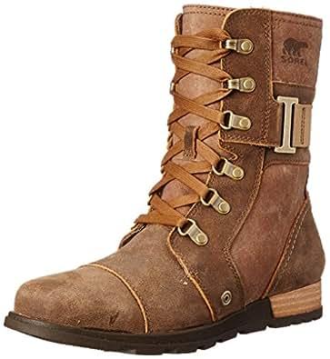 Sorel Women's Sorel Major Carly Snow Boot, Nutmeg, Flax, 6 B US