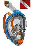 Ocean Reef Aria Full Face Snorkel Mask (Blue, Medium/Large)