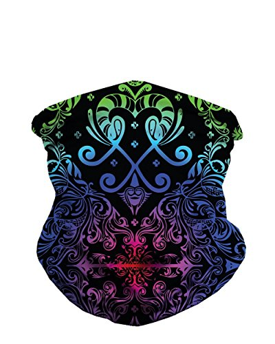 iHeartRaves Paisley Seamless Rave Mask All Over Print Bandana (Rainbow) (Halloween Face Paint Ideas For Adults)