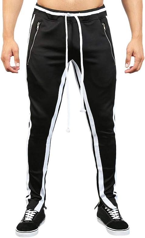 Pantalones de Bolsillo para Hombre Moda Casual Suelto pantalón de ...
