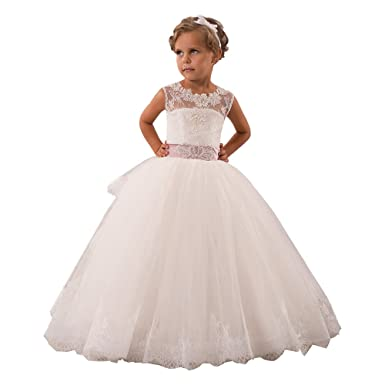 Amazon.com: Sittingley Holy Girls Communion Dress Wedding Junior ...