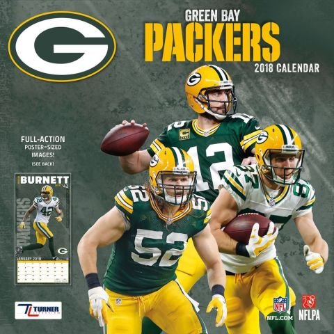 2018 Greenbay Packers NFL Sports TEAM Wall Calendar