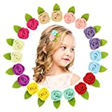 Best Barrettes For Toddlers - QtGirl Mini Felt Hair Clips Felt Flower Hair Review