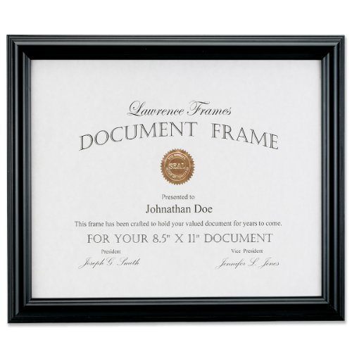 Lawrence Frames 185081 Black Document Picture Frame, 8.5 by 11-Inch by Lawrence Frames
