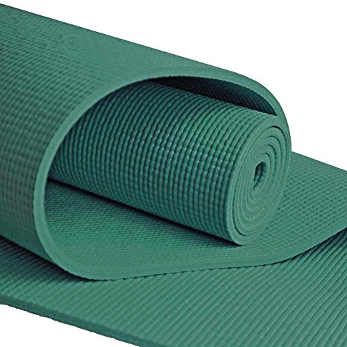 YogaAccessories Extra Long 1/4'' Deluxe Yoga Mat - Forest Gr
