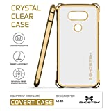 LG G5 Case, Ghostek Covert Series for LG G5 Premium Impact Slim Hybrid Protective Armor Case Cover | Clear TPU Exchange | Explosion-Proof Screen Protector | Ultra Fit (Gold)